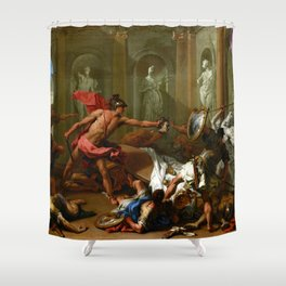 Sebastiano Ricci Perseus Confronting Phineus with the Head of Medusa Shower Curtain