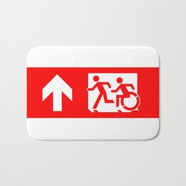 Wheelchair Disabled Exit Sign, with Accessible Means of Egress Icon Bath Mat
