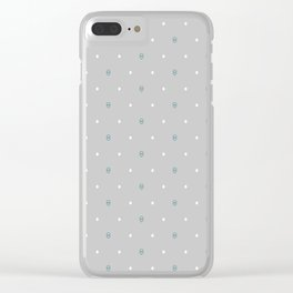 Brighting diamond (grey background) Clear iPhone Case