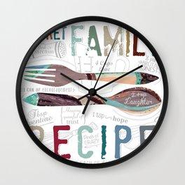 Secret Family Recipe Wall Clock