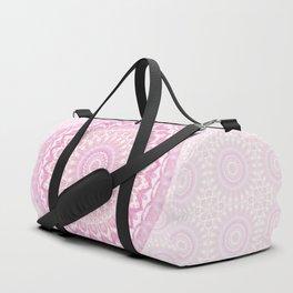 Frosted Pink Mandala Duffle Bag