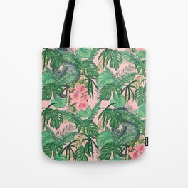 Serpents and Flowers Tote Bag