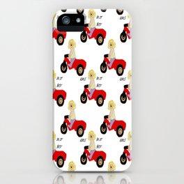 girls rule pattern! iPhone Case