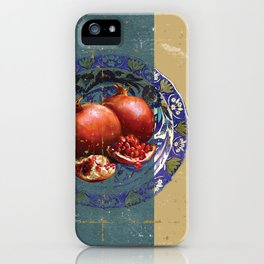 The Fine Art of Pomegranate in the Antique Plate! iPhone Case
