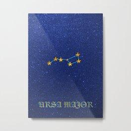 Constellations - URSA MAJOR Metal Print