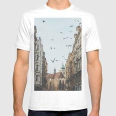 Prague, Czechia VI MEDIUM White Mens Fitted Tee