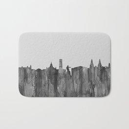 Aberdeen, Scotland Skyline - Navaho B&W Badematte