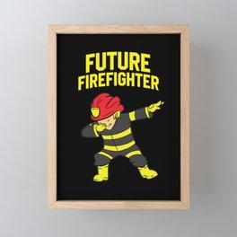 Dabbing Firefighter Kids Future Firefighter Framed Mini Art Print