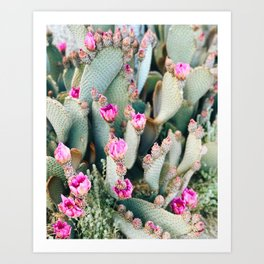 Raindrop Effect in the Desert Art Print