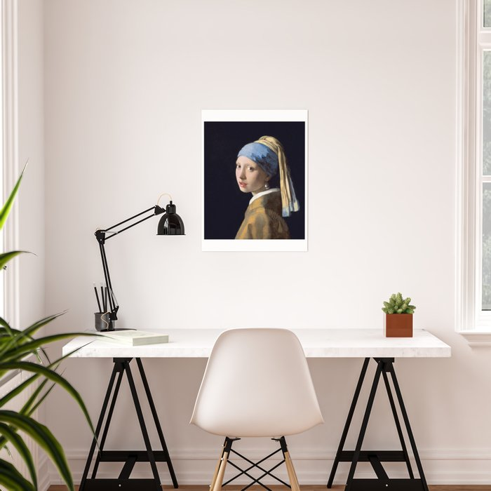 4a8b8cc6f31 GIRL WITH A PEARL EARRING - JOHANNES VERMEER Poster by ...