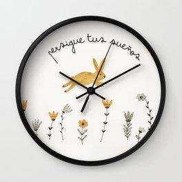 bunny dreams Wall Clock