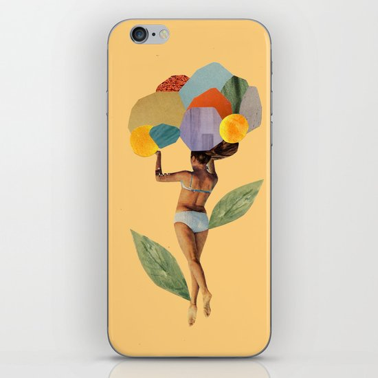 i walk out in the flowers and feel better iPhone & iPod Skin