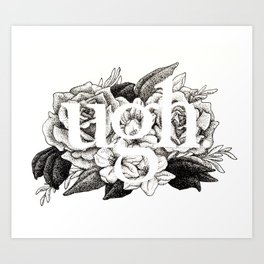 Ugh Floral Art Print