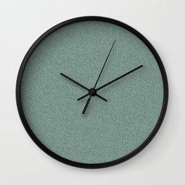 Dense Melange - White and Deep Green Wall Clock