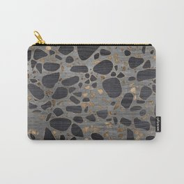 Terrazzo - Mosaic - Wooden texture and gold #1 Carry-All Pouch