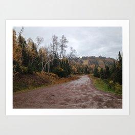 Lutsen in Autumn Art Print