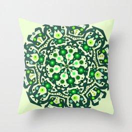 Green lovers Throw Pillow
