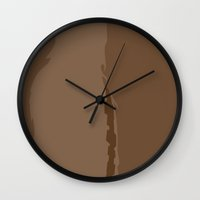chewbacca Wall Clocks featuring Chewbacca by olive hue designs