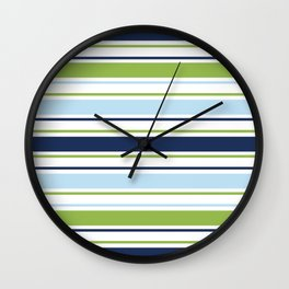 Minimal Abstract Blue White Green 06 Wall Clock
