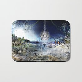 The City of Pyramids in the Night of Pan Bath Mat