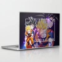 goku Laptop & iPad Skins featuring Goku & Gohan by Neo Crystal Tokyo