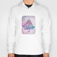 christmas tree Hoodies featuring Christmas Tree by Klara Acel