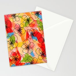 Hibiscus Family no.1 hibiscus illustration flower pattern floral painting nursery room decor Hawaii Stationery Cards