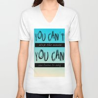 motivation V-neck T-shirts featuring Surf Motivation by Goretti