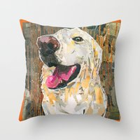 ellie goulding Throw Pillows featuring Ellie  by Maritza Hernandez