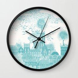 Earth Celestial City Wall Clock