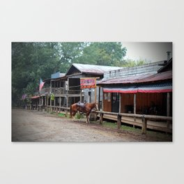 One Horse Town Canvas Print