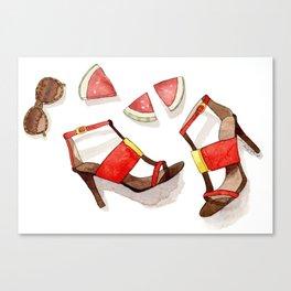 Summer Shoes Canvas Print