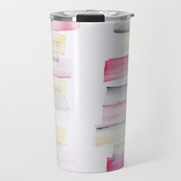 10   | 181101 Watercolour Palette Abstract Art | Lines | Stripes | Travel Mug