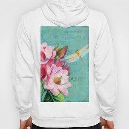 Verdigris Pink Magnolias Hoody