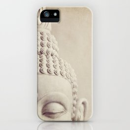Cropped Buddha head statue. iPhone Case