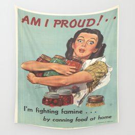 Vintage poster - Am I Proud? Wall Tapestry