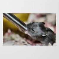 hamster Area & Throw Rugs featuring Tiny Hamster by IowaShots