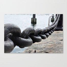 Chains on the Boston Harbor Canvas Print