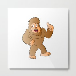 Bigfoot cartoon Metal Print