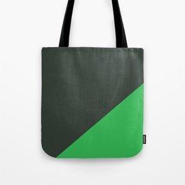 Dark Grey & Bright Green - oblique Tote Bag