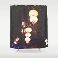 lanterns Shower Curtains featuring Lanterns by Kaartik Gupta