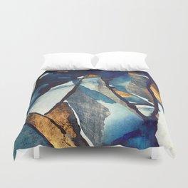 Cobalt Abstract Duvet Cover