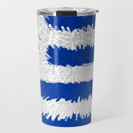 Extruded flag of Uruguay Travel Mug