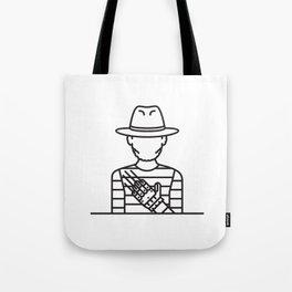Freddie Krueger (Grey Background) Tote Bag