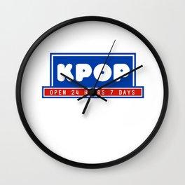 Kpop Korean Restaurant Wall Clock