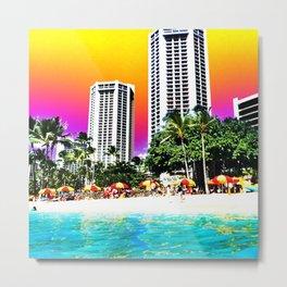 Waikiki Beach II Metal Print