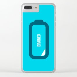Drained Clear iPhone Case