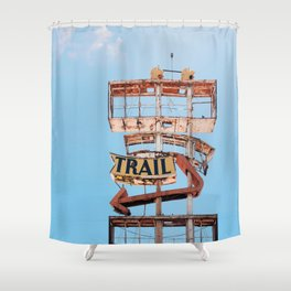 Vintage Neon Sign - The Spanish Trail -  Tucson Shower Curtain