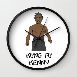 KUNG FU KENNY Wall Clock