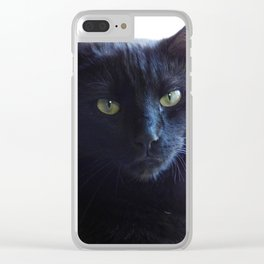 Cranky cat Clear iPhone Case